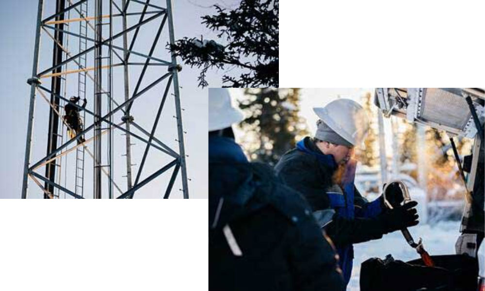 GCI Crews Work in Sub-Zero Temperatures to Bring 5G to Alaska's Largest City