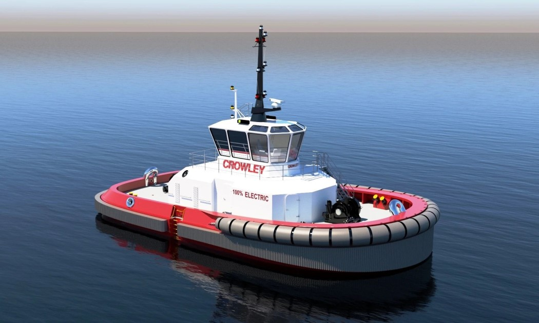 Crowley Completes First US Design for Fully Electric Tug with Autonomous Technology